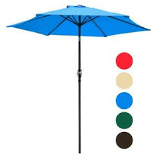 8 Ft Patio Umbrella 8 Ft Patio Umbrella Aluminum Crank Tilt Deck Sunshade Cover