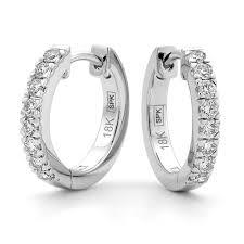 white gold diamond hoop earrings underwood jewellers 18ct white gold diamond hoop earrings