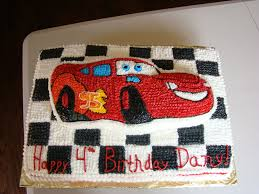 lightning mcqueen cake out of buttercream icing car cakes