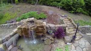 backyard waterfalls building montage youtube