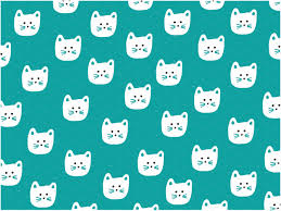 cat wrapping paper cat pattern patterns creative market