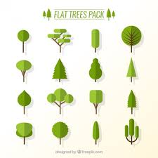 flat trees pack vector free