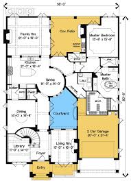 mediterranean floor plans with courtyard plan 83376cl best in show courtyard stunner european house