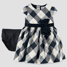 baby cap sleeve plaid bow dress just one you made by