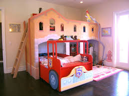 toddler bunk bed with car garage design for boys decofurnish