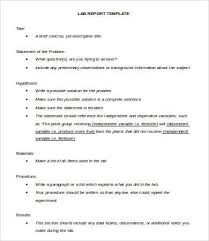 lab report template lab report template 10 free word pdf documents free