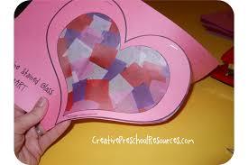 valentine stained glass heart creative preschool resources
