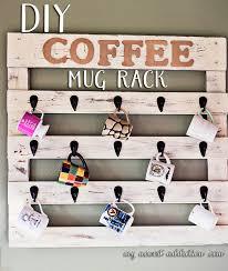 wooden coffee wall diy coffee mug rack my newest addiction