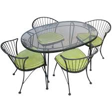 Oval Wrought Iron Patio Table Best 25 Iron Patio Furniture Ideas On Pinterest Painted Patio