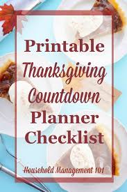thanksgiving countdown plan for a great day includes free