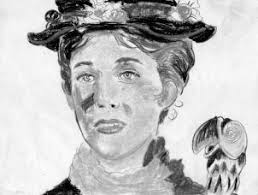 how to draw mary poppins julie andrews step by step portraits