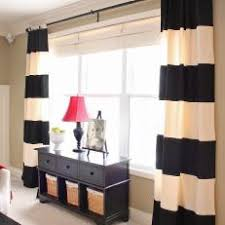Black And White Stripe Curtains Photos Hgtv