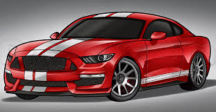 2016 Cobra Mustang How To Draw A 2016 Shelby Mustang Step By Step Cars Draw Cars