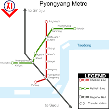 Green Line Metro Map by Pyongyang Metro Map North Korea