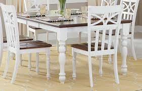 Cherry Dining Room Tables Homelegance Sanibel Dining Table Cherry White 2119w 78