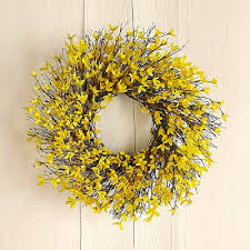 forsythia wreath forsythia wreath williams sonoma