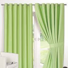 Lime Green Blackout Curtains Ring Top Fully Lined Pair Eyelet Ready Made Curtains Luxury