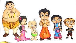 chhota bheem coloring page coloring chhota bheem cartoon