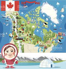 Alaska Canada Map by Cartoon Map Of Canada Stock Vector Art 159523793 Istock