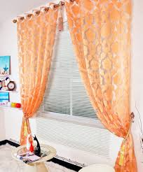 Sheer Curtains Orange Sheer Orange Curtains Search For The Home Pinterest