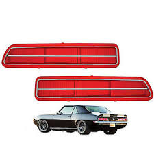 1969 camaro tail lights 69 chevrolet camaro rs rear tail light lenses w stainless trim l