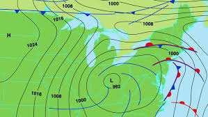 weather fronts map weather forecast map with isobars cold and warm fronts