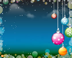 holiday ornaments frame ppt background 1036