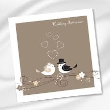 Bride To Groom Wedding Card Bride U0026 Groom Love Birds Wedding Invitation Ireland Weddingprint
