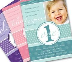 1 Year Invitation Birthday Cards 1 Year Old Birthday Invitations Ajordanscart Com