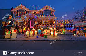 Christmas Lights For House by A House In Bayside Queens New York With Elaborate Lighting For