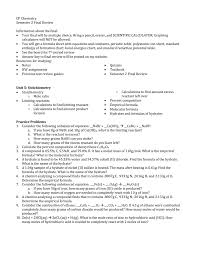 cp chemistry semester 2 final review information about the final