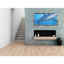 startonight 3d mural wall art photo decor friendly shark amazing