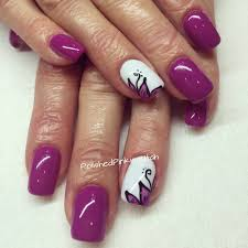 Beautiful Color Accent Polished Pinkies Utah Purple Nails For Spring Beautiful Purple