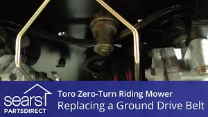 how to replace a toro zero turn riding mower ground drive belt