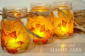 Mason Jar Halloween Lantern Wonderful Diy Pretty Leaf Candle Holder