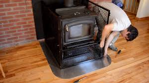 wood stove baby fence hearth gate youtube