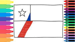 Chilian Flag How To Draw Chile Flag Drawing The Chilean Flag Art Colors For