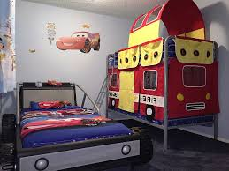 Race Car Bunk Bed Cars Bedroom Set Home Design Ideas