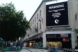 Home Zone Design Cardiff Cardiff City Centre Adverstising Billboard Hacked With