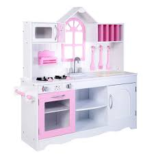 amazon com costzon kids wood kitchen toy cooking pretend play set