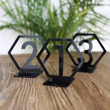 table numbers for wedding geometric table numbers for wedding gold laser cutout hexagon