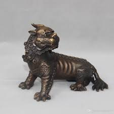 2017 chinese bronze evil spirit foo dog lion beast pixiu