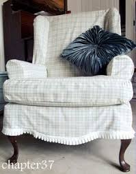 Wing Back Chair Slip Covers Diy Slipcover For Wing Back Chair From Thrift Store Find To
