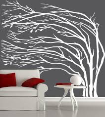white tree wall decals white silhouette tree wall decal