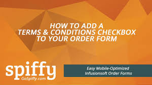infusionsoft order form how to add a terms u0026 conditions checkbox