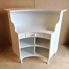 Small Receptionist Desk Curved Salon Reception Desk Style Shabby Chic Painted Satin