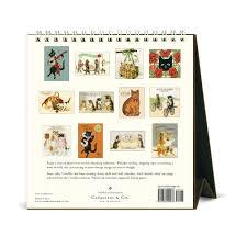 cavallini calendars vintage cats 2018 easel calendar 9781635440478 calendars