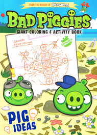 angry birds bad piggies giant coloring u0026 activity book pig ideas