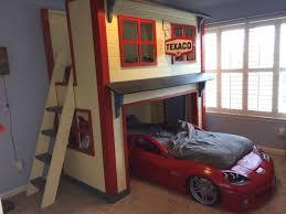 Cars Bunk Beds Garage Loft Bed Diy Bedroom Tutorials Pinterest Cars Boys