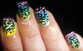 rainbow leopard nails uñas de leopardo madjennsy nail art